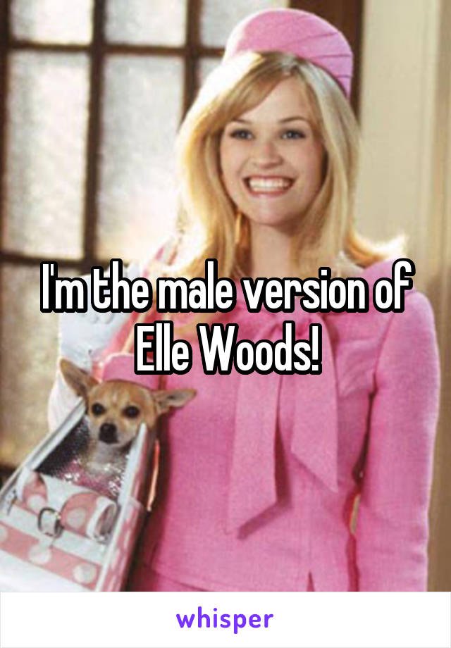 I'm the male version of Elle Woods!