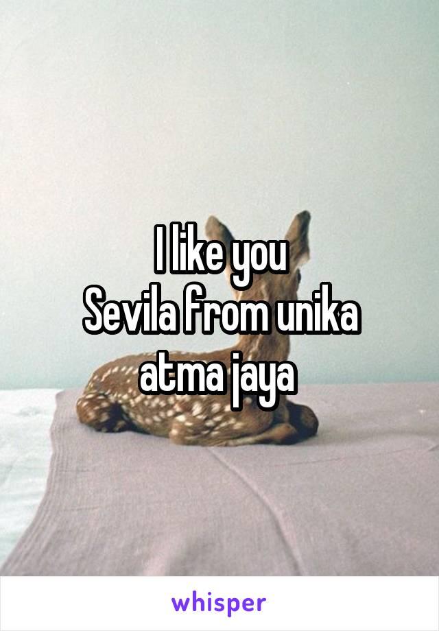 I like you Sevila from unika atma jaya