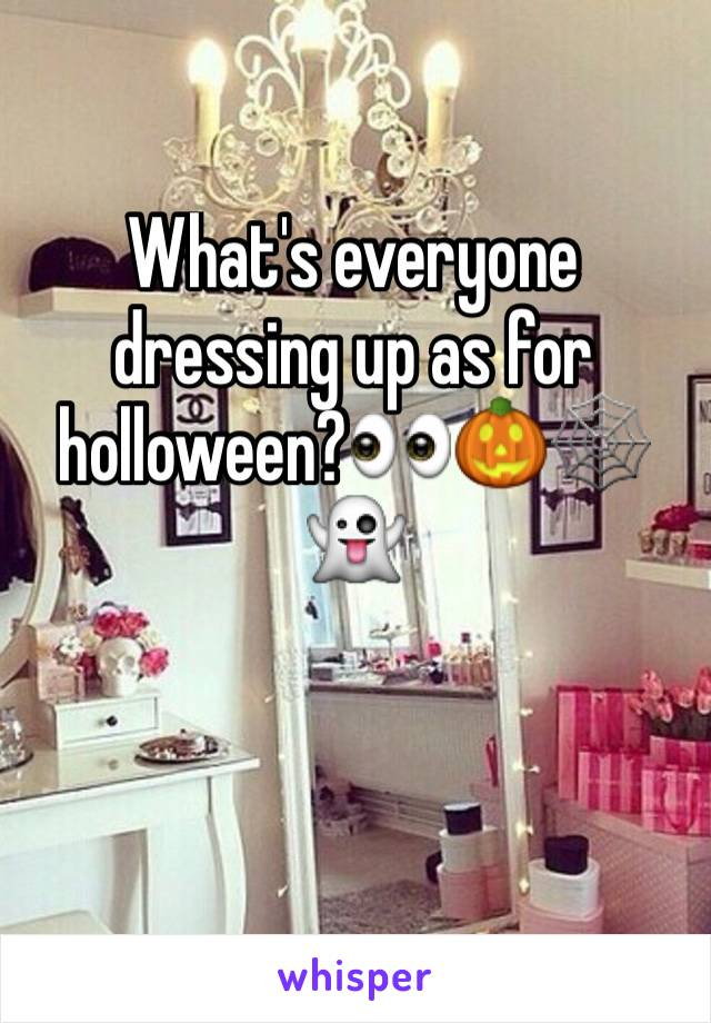 What's everyone dressing up as for holloween?👀🎃🕸👻