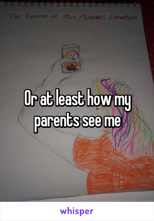 Or at least how my parents see me