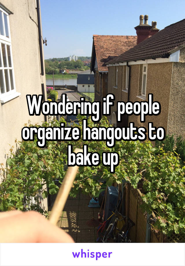 Wondering if people organize hangouts to bake up