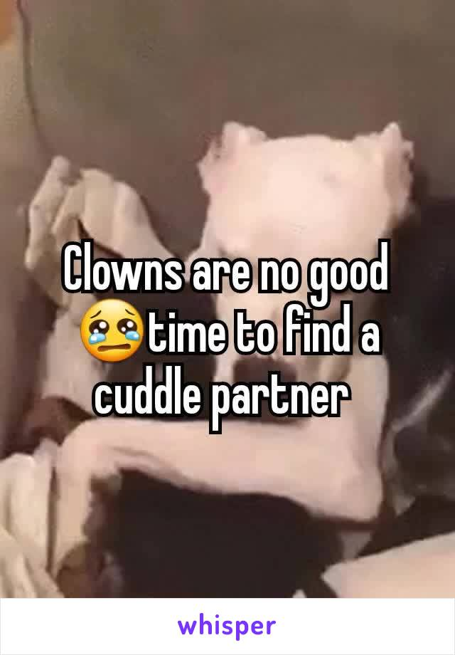 Clowns are no good 😢time to find a cuddle partner