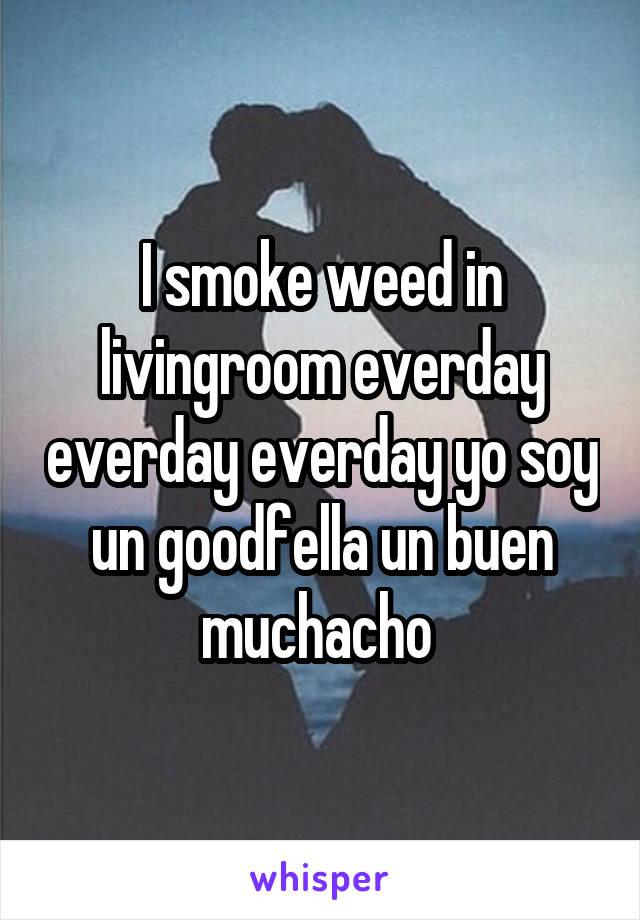 I smoke weed in livingroom everday everday everday yo soy un goodfella un buen muchacho
