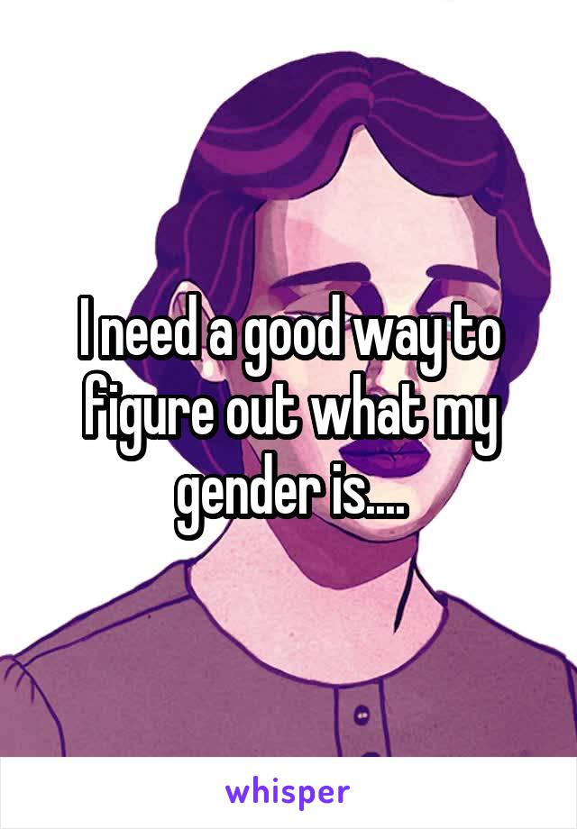 I need a good way to figure out what my gender is....