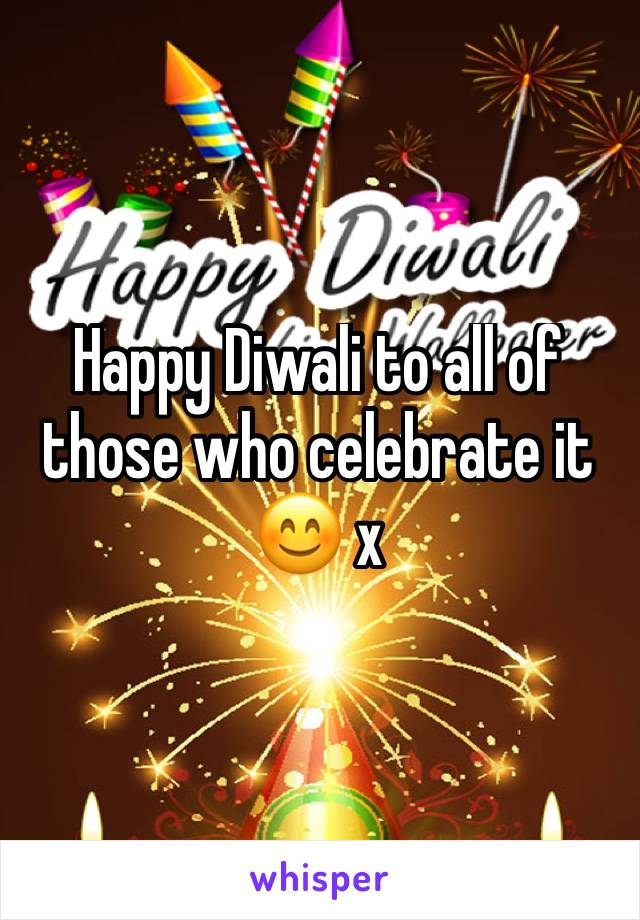Happy Diwali to all of those who celebrate it 😊 x