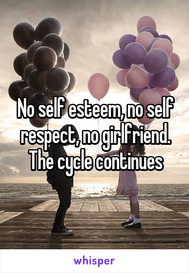 No self esteem, no self respect, no girlfriend. The cycle continues