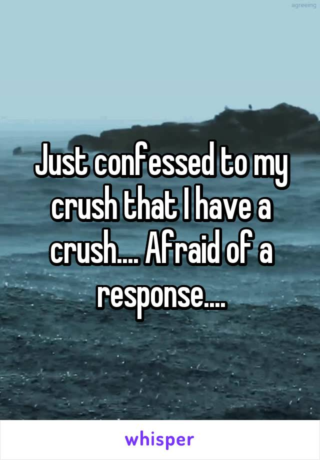 Just confessed to my crush that I have a crush.... Afraid of a response....