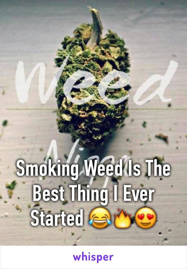 Smoking Weed Is The Best Thing I Ever Started 😂🔥😍