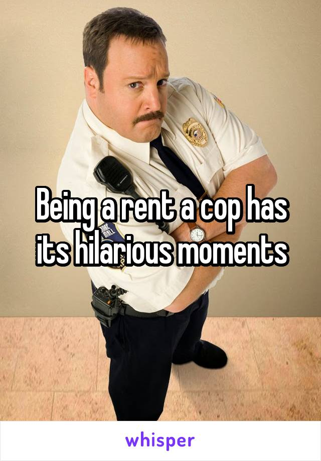 Being a rent a cop has its hilarious moments
