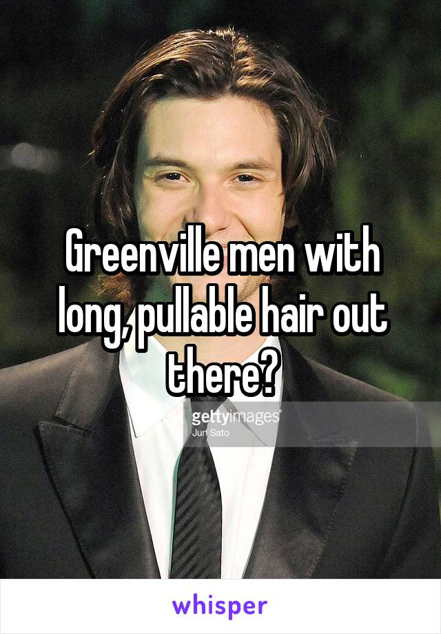 Greenville men with long, pullable hair out there?