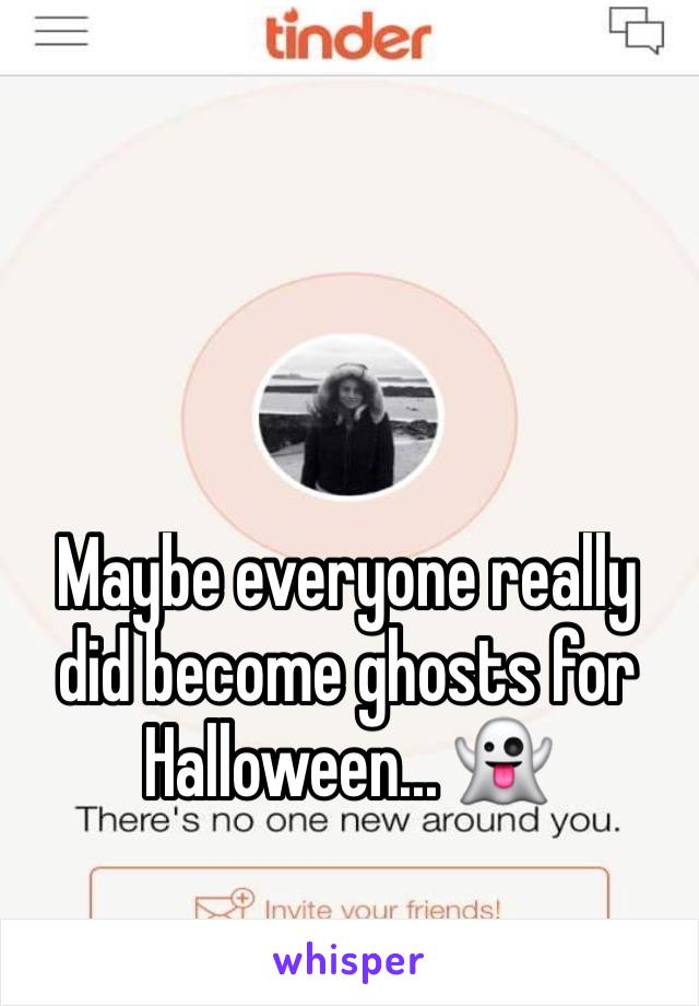 Maybe everyone really did become ghosts for Halloween... 👻