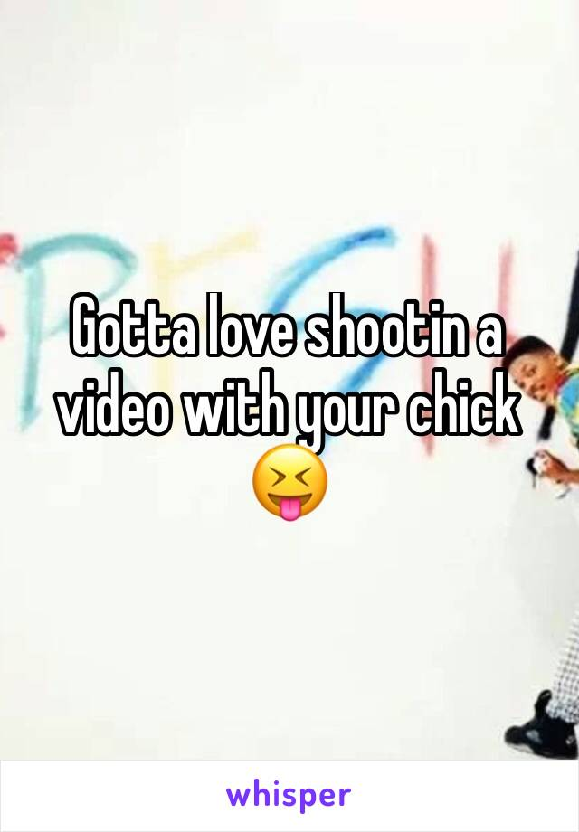 Gotta love shootin a video with your chick 😝