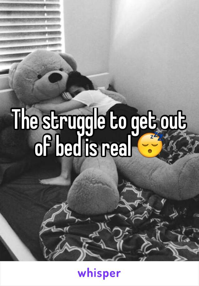 The struggle to get out of bed is real 😴