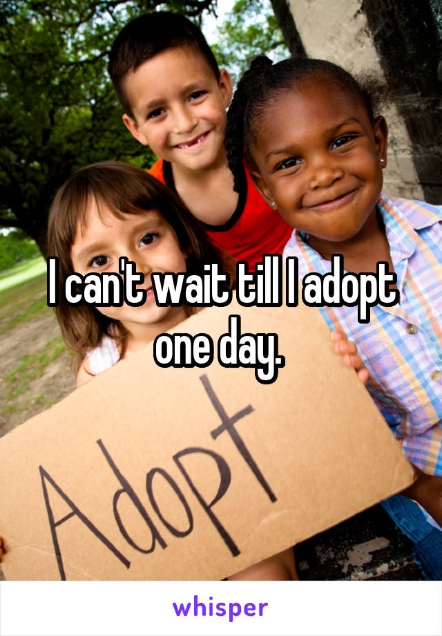 I can't wait till I adopt one day.