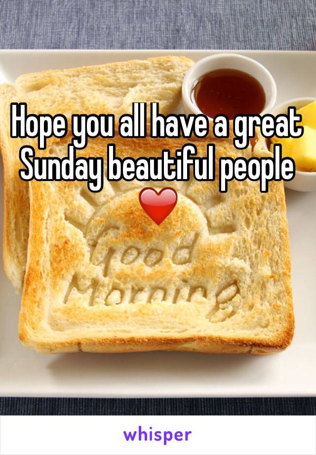 Hope you all have a great Sunday beautiful people ❤️