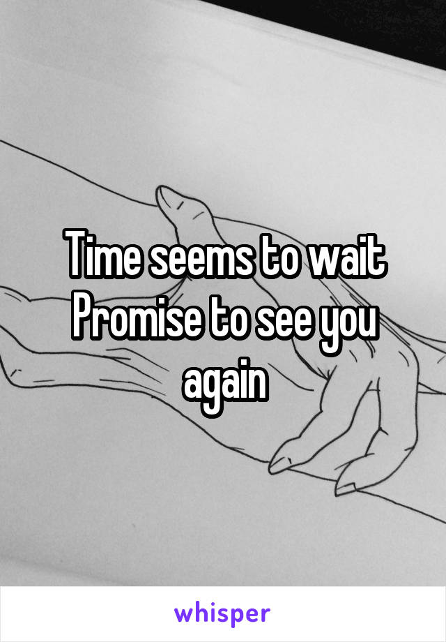 Time seems to wait Promise to see you again