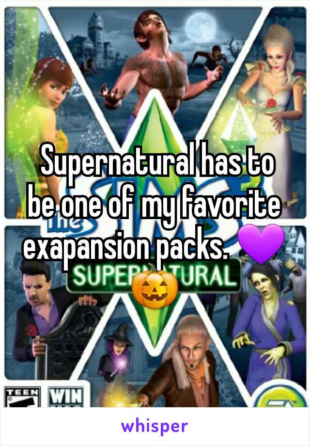 Supernatural has to be one of my favorite exapansion packs. 💜🎃