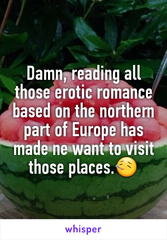 Damn, reading all those erotic romance based on the northern part of Europe has made ne want to visit those places.🤒