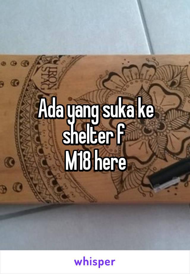 Ada yang suka ke shelter f  M18 here
