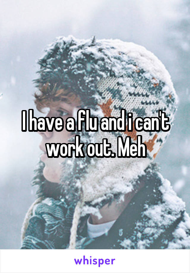 I have a flu and i can't work out. Meh