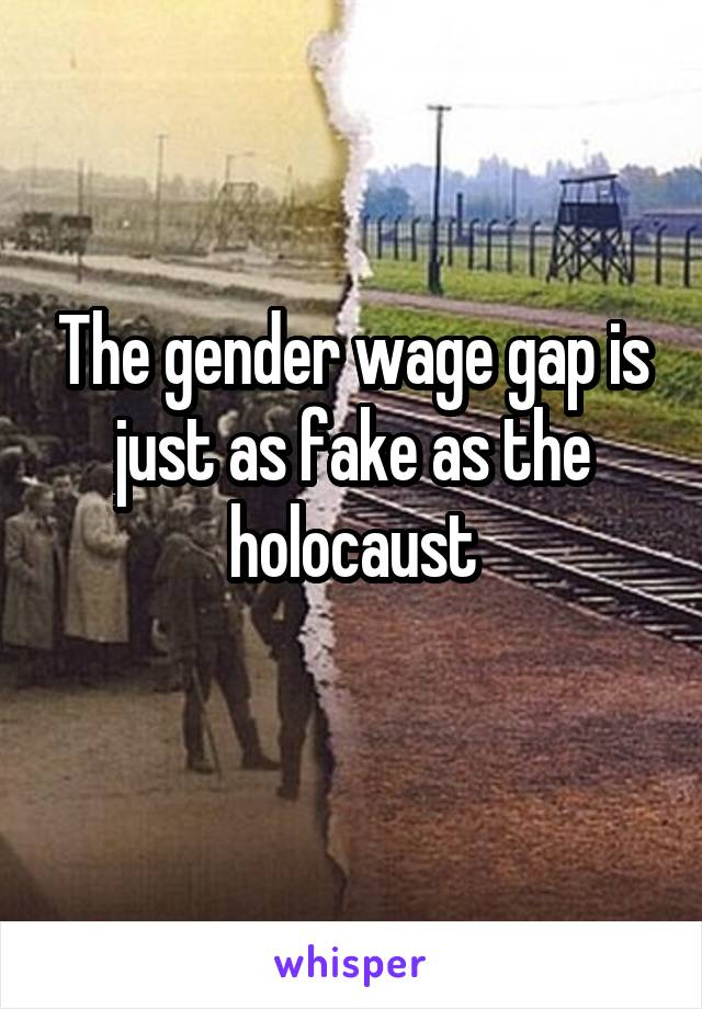 The gender wage gap is just as fake as the holocaust