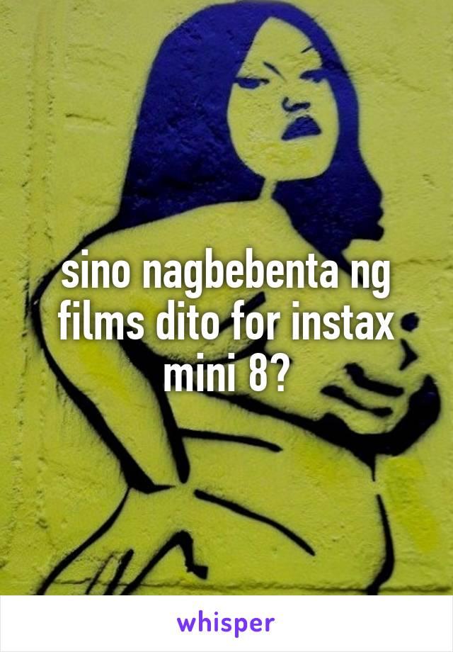 sino nagbebenta ng films dito for instax mini 8?