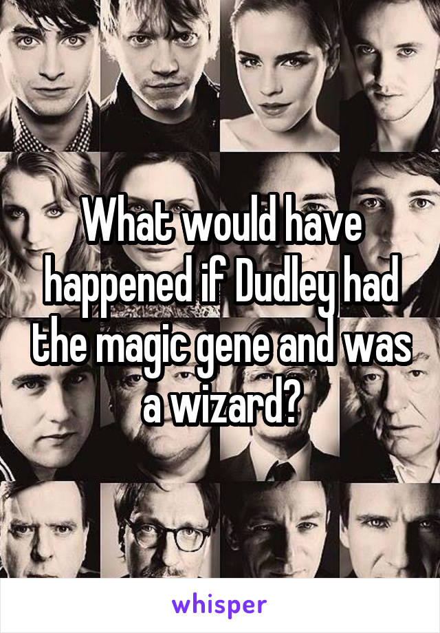 What would have happened if Dudley had the magic gene and was a wizard?
