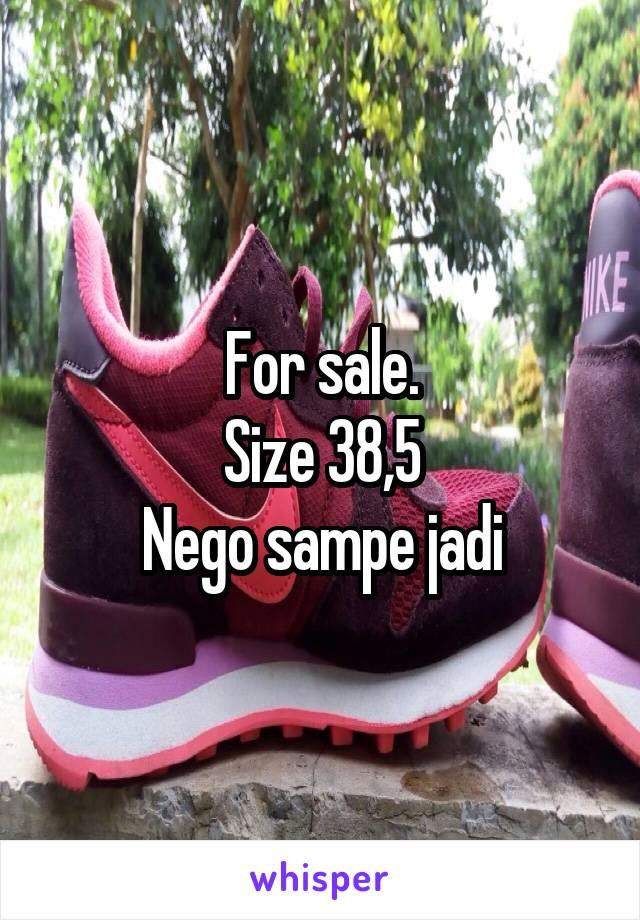 For sale. Size 38,5 Nego sampe jadi