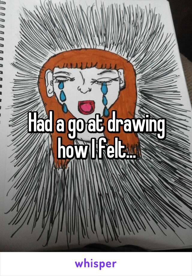 Had a go at drawing how I felt...