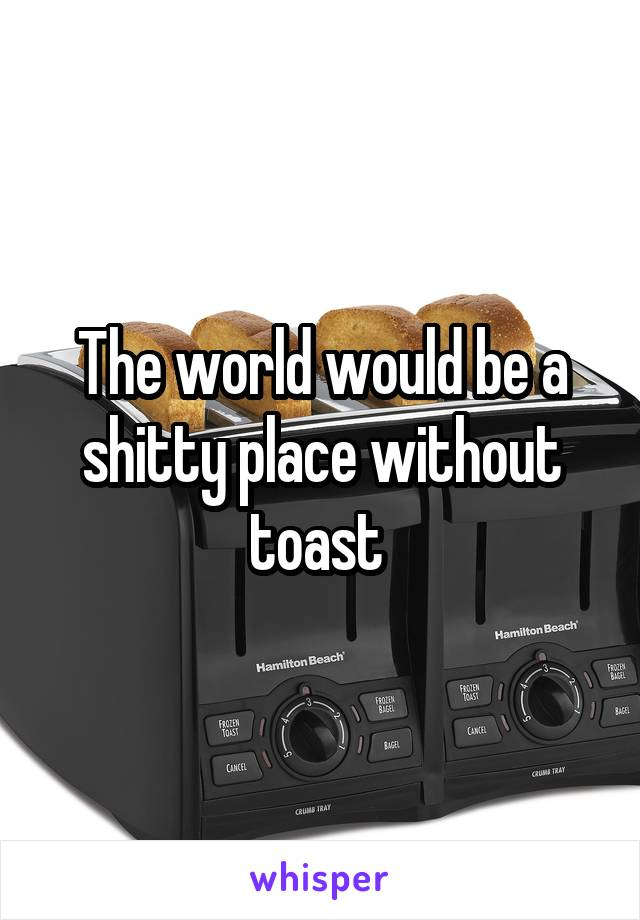 The world would be a shitty place without toast