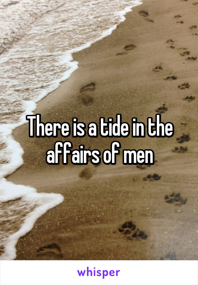 There is a tide in the affairs of men