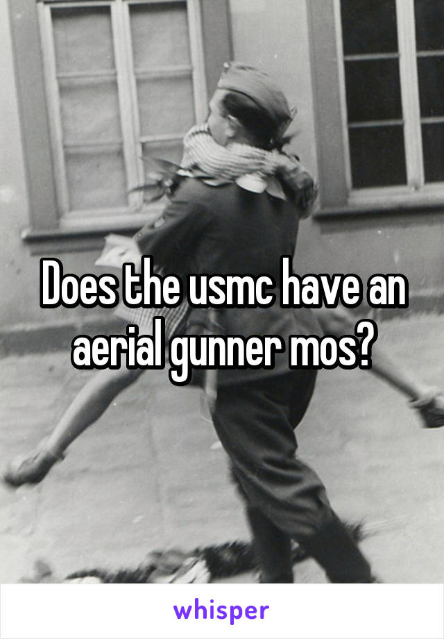 Does the usmc have an aerial gunner mos?