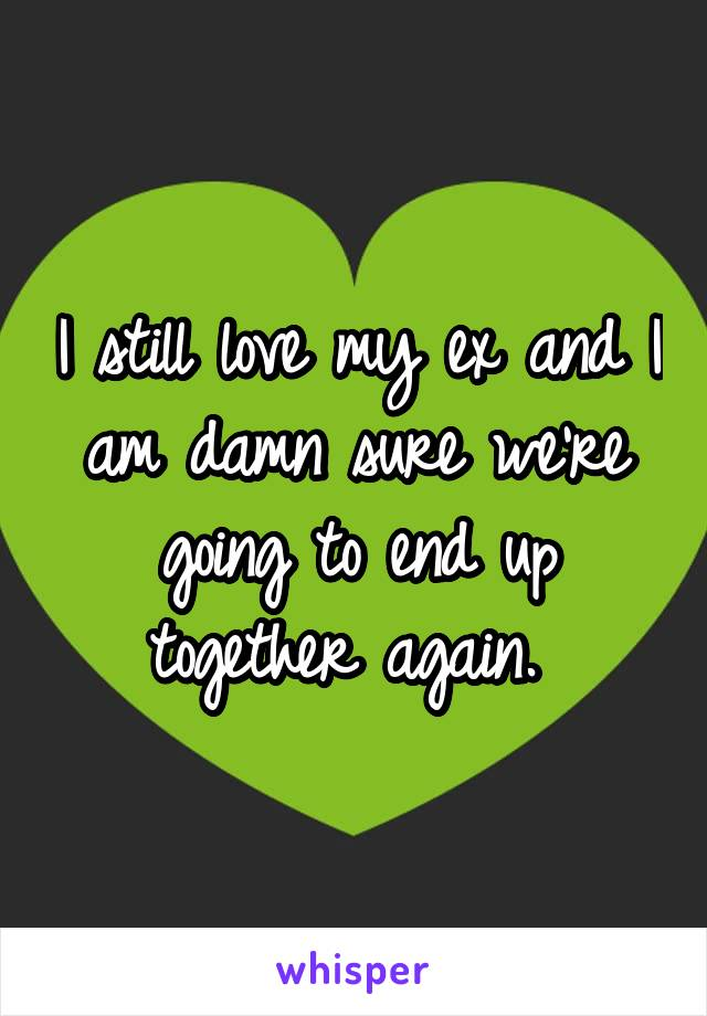 I still love my ex and I am damn sure we're going to end up together again.