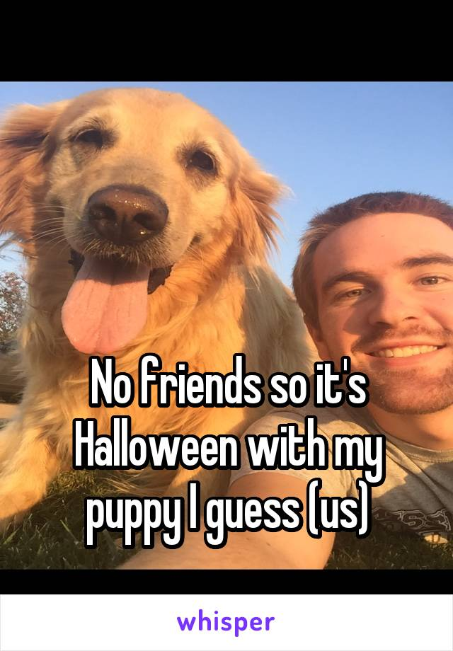 No friends so it's Halloween with my puppy I guess (us)