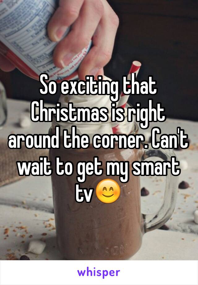 So exciting that Christmas is right around the corner. Can't wait to get my smart tv😊