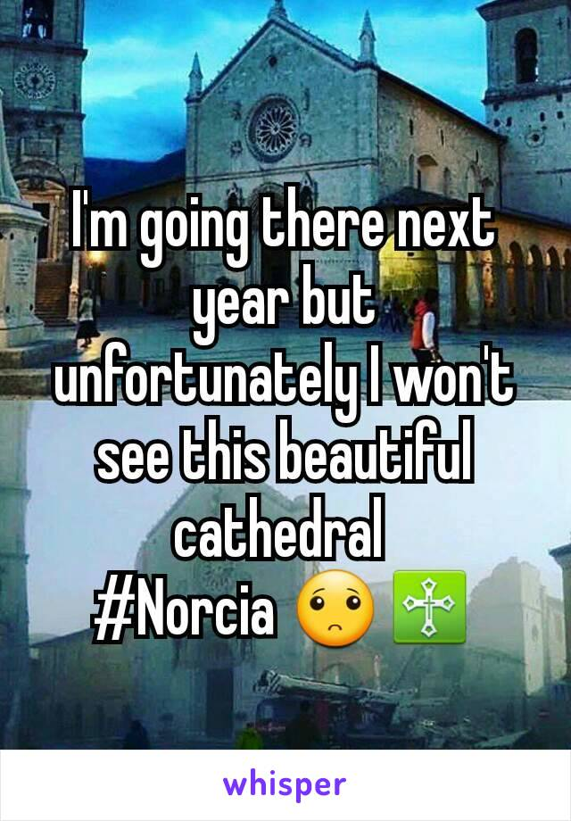 I'm going there next year but unfortunately I won't see this beautiful cathedral  #Norcia 🙁♱