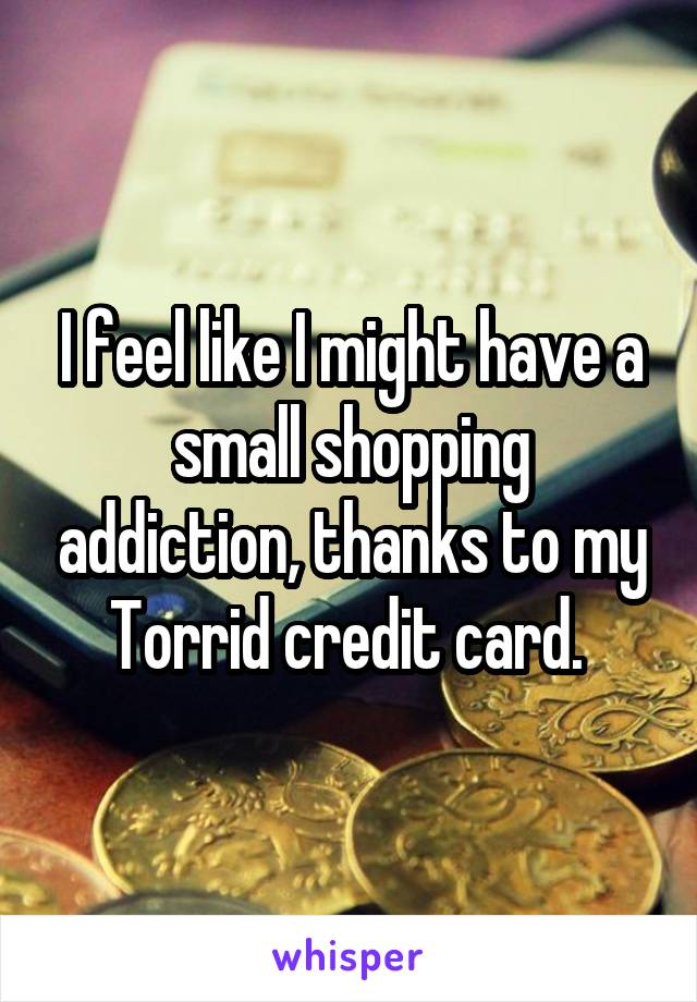 I feel like I might have a small shopping addiction, thanks to my Torrid credit card.