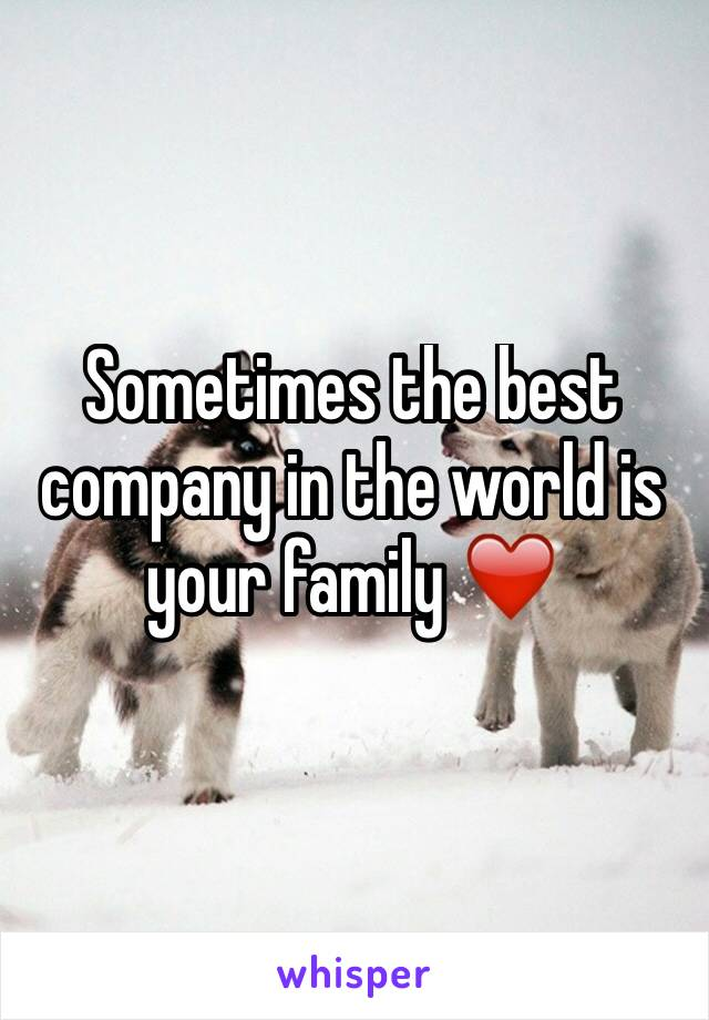 Sometimes the best company in the world is your family ❤️