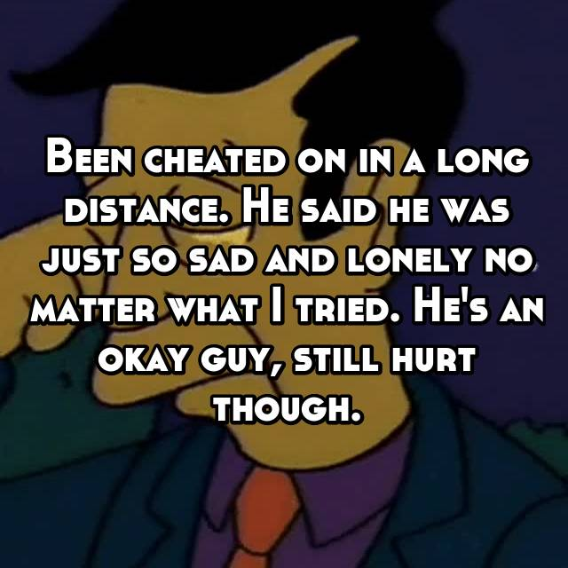 Long distance relationships cheating