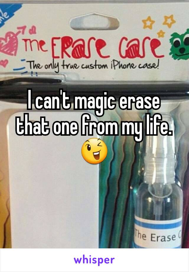 I can't magic erase that one from my life. 😉