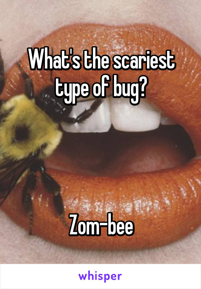 What's the scariest type of bug?     Zom-bee