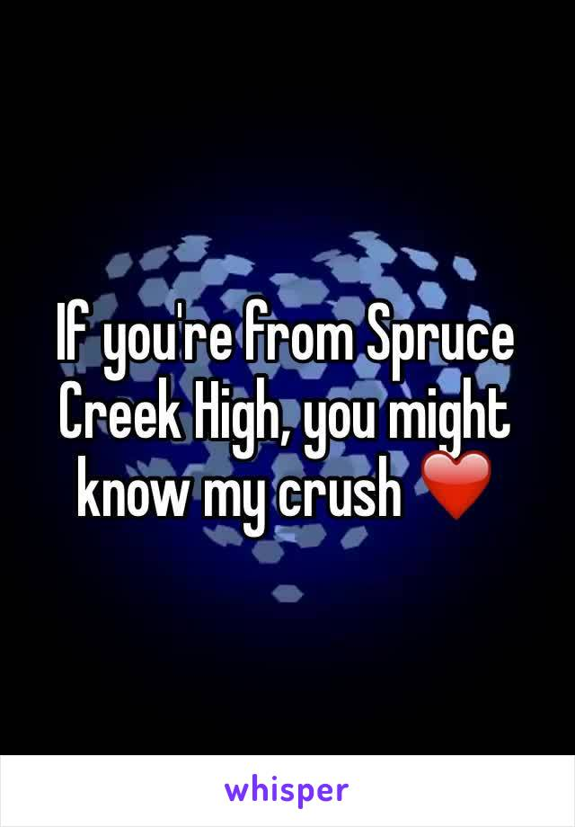 If you're from Spruce Creek High, you might know my crush ❤️