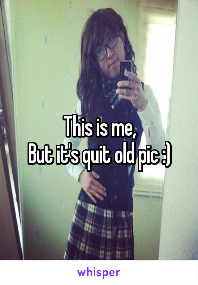 This is me, But it's quit old pic :)