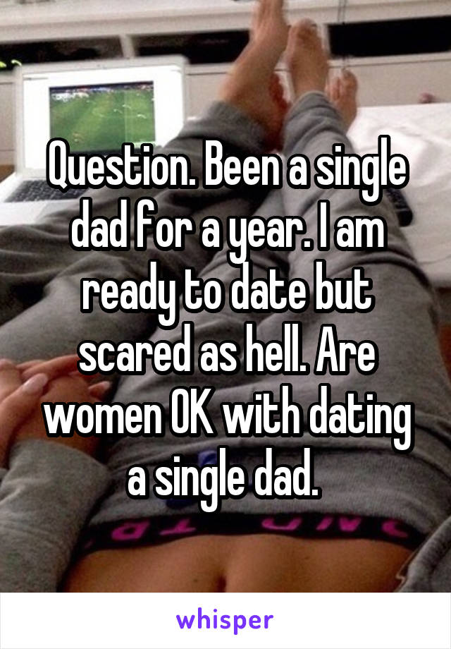 Question. Been a single dad for a year. I am ready to date but scared as hell. Are women OK with dating a single dad.