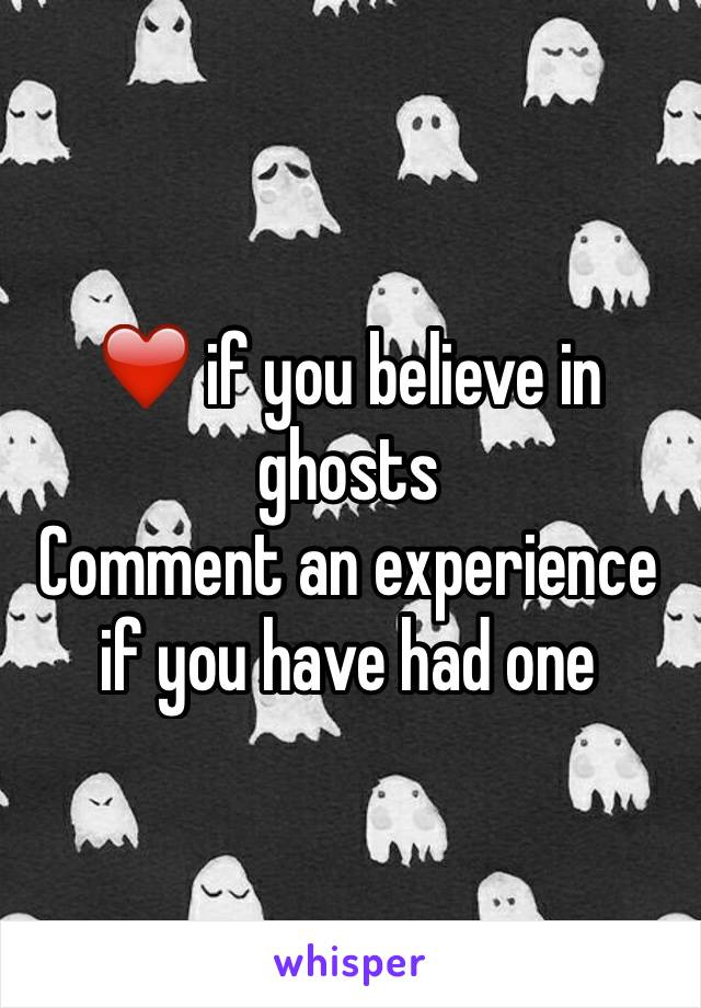 ❤️ if you believe in ghosts Comment an experience if you have had one