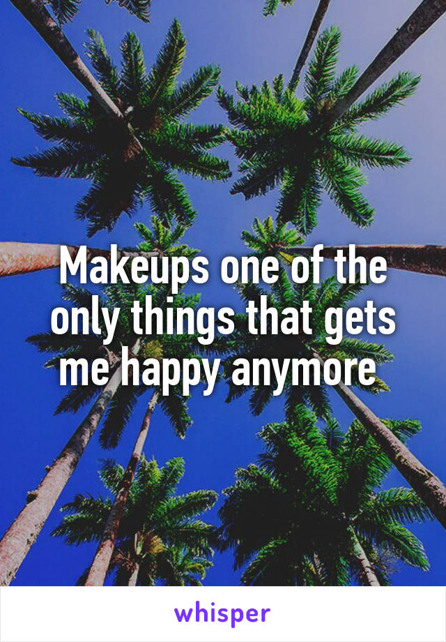 Makeups one of the only things that gets me happy anymore