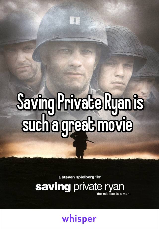 Saving Private Ryan is such a great movie