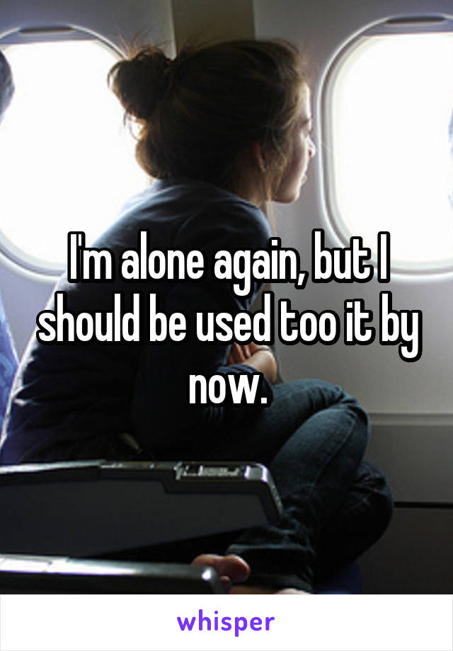 I'm alone again, but I should be used too it by now.
