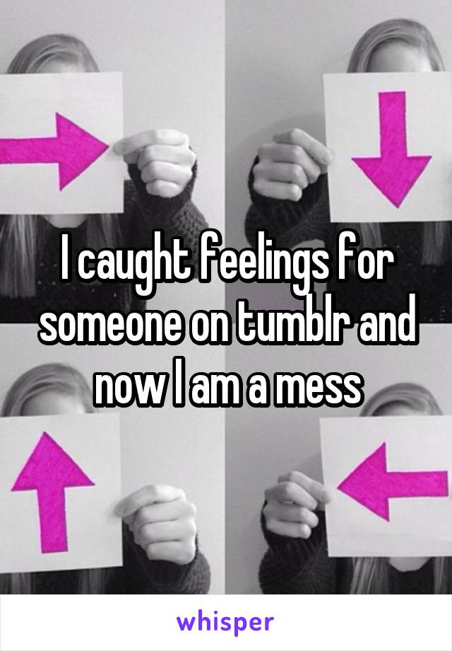 I caught feelings for someone on tumblr and now I am a mess
