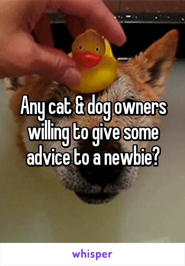 Any cat & dog owners willing to give some advice to a newbie?